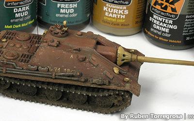 Painting red primer in German tanks – Part II