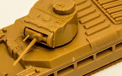 Ajustando la torreta en un Matilda Mk II