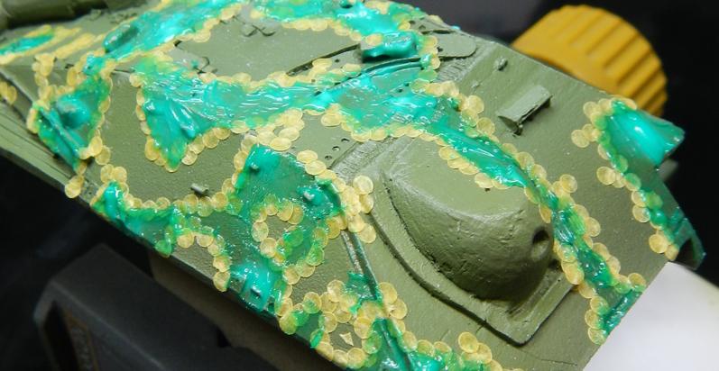 Ambush camouflage on 28mm Bolt Action Hetzer – Part I
