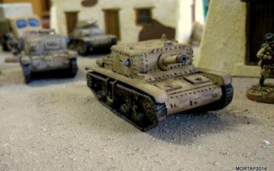 Scratch building: Italian tank