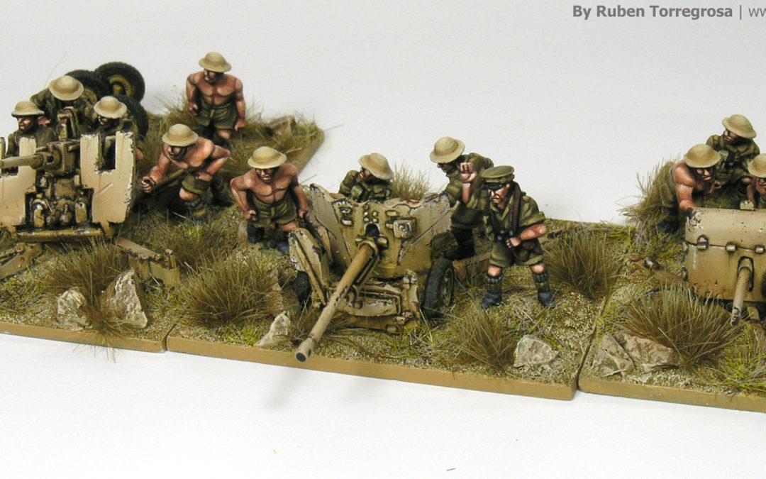 Flames of War – DAK and Desert Rats guns (Forged in Battle)