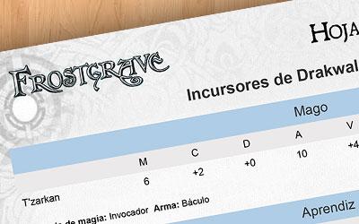 FROSTER: generador de listas Frostgrave