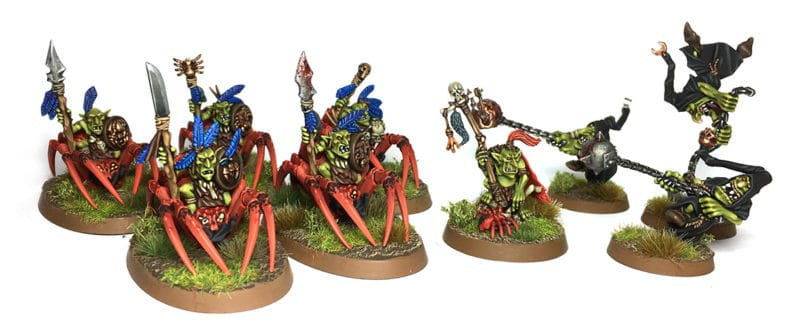 Jinetes araña Spiderfang Grot Age of Sigmar