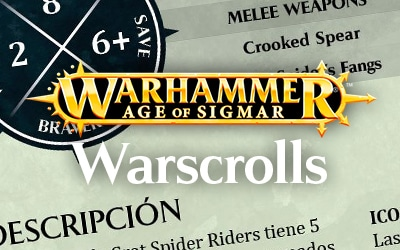 Tarjetas de warscrolls para Age of Sigmar