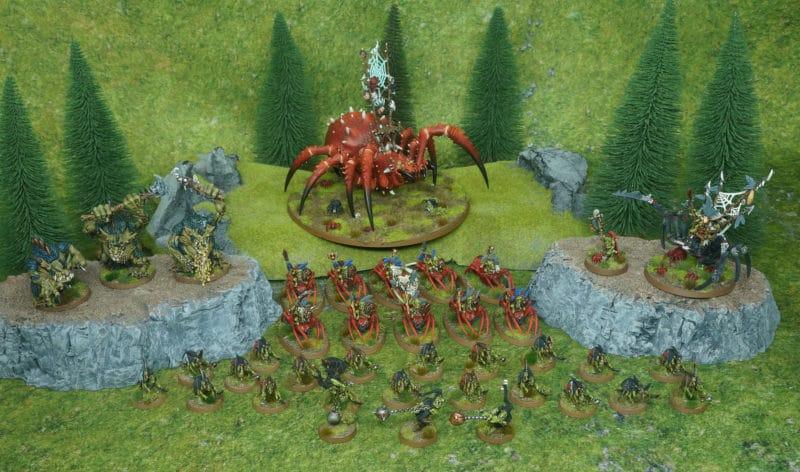 Spiderfang Grots ejército para Age of Sigmar