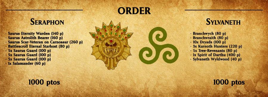 Listas Seraphon y Sylvaneth a 1000 puntos Age of Sigmar