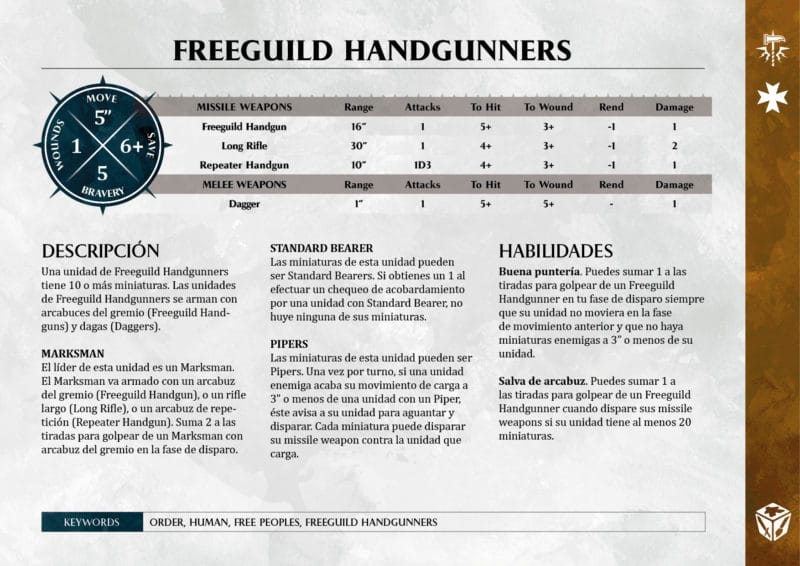 Freeguild warscrolls warhammer age of sigmar
