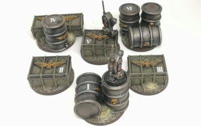 Marcadores de objetivo para Warhammer 40.000