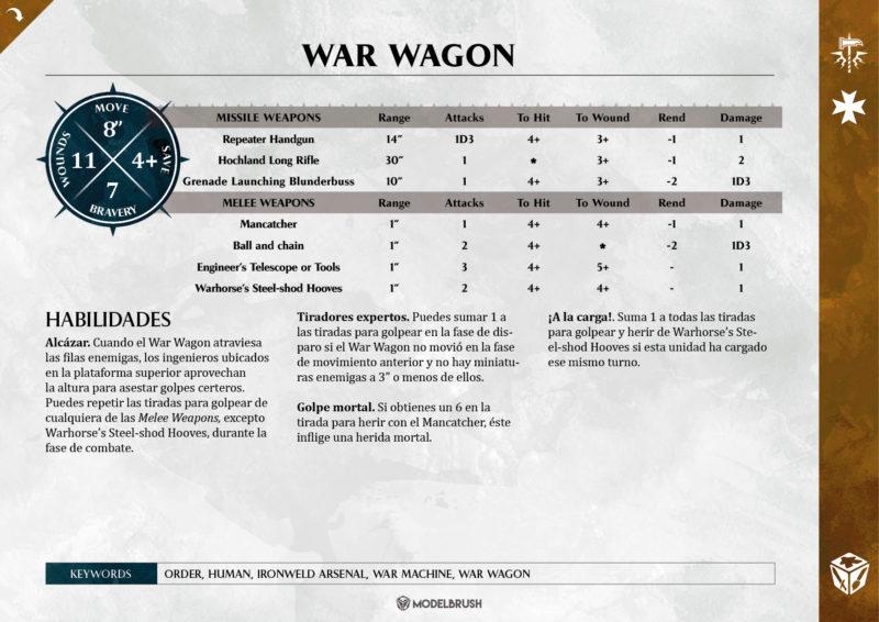 Empire War Wagon para Age of Sigmar