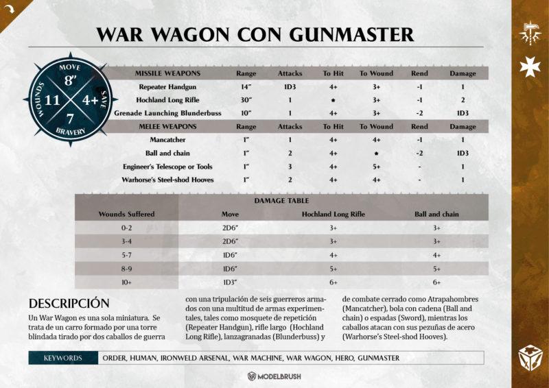 Freeguild War Wagon con Gunmaster para Age of Sigmar
