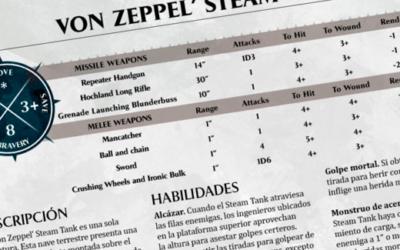 War Wagon y Von Zeppel's Steam Tank para Age of Sigmar