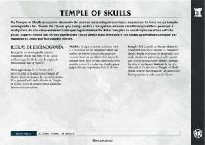 Tarjetas con reglas de Escenografía para Age of Sigmar
