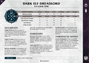 Warscrolls Dark Aelfs