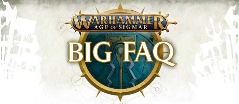 Big FAQ de Age of Sigmar 2018