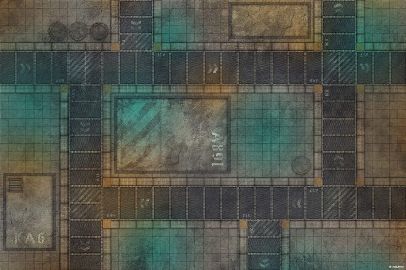 Tapete de combate urbano para Warhammer 40000