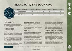 Tarjetas de Warscrolls Gloomspite Gitz