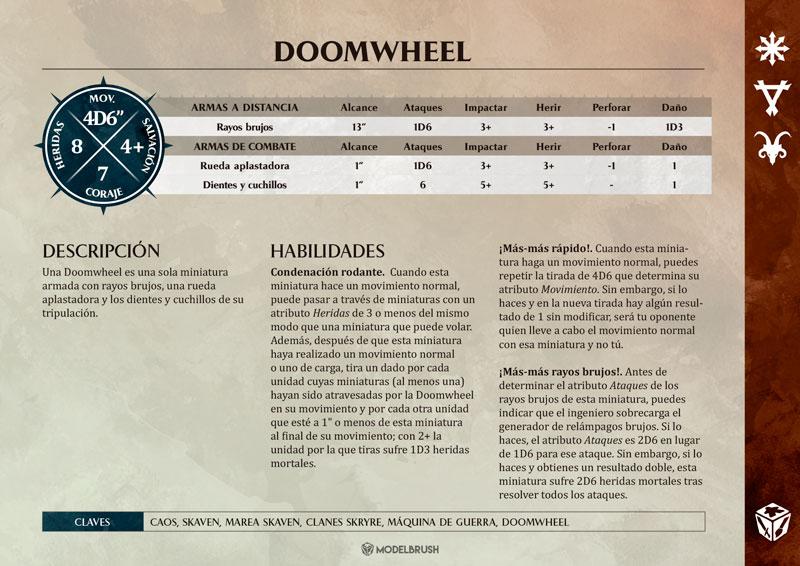Tarjetas de Warscrolls Skaven