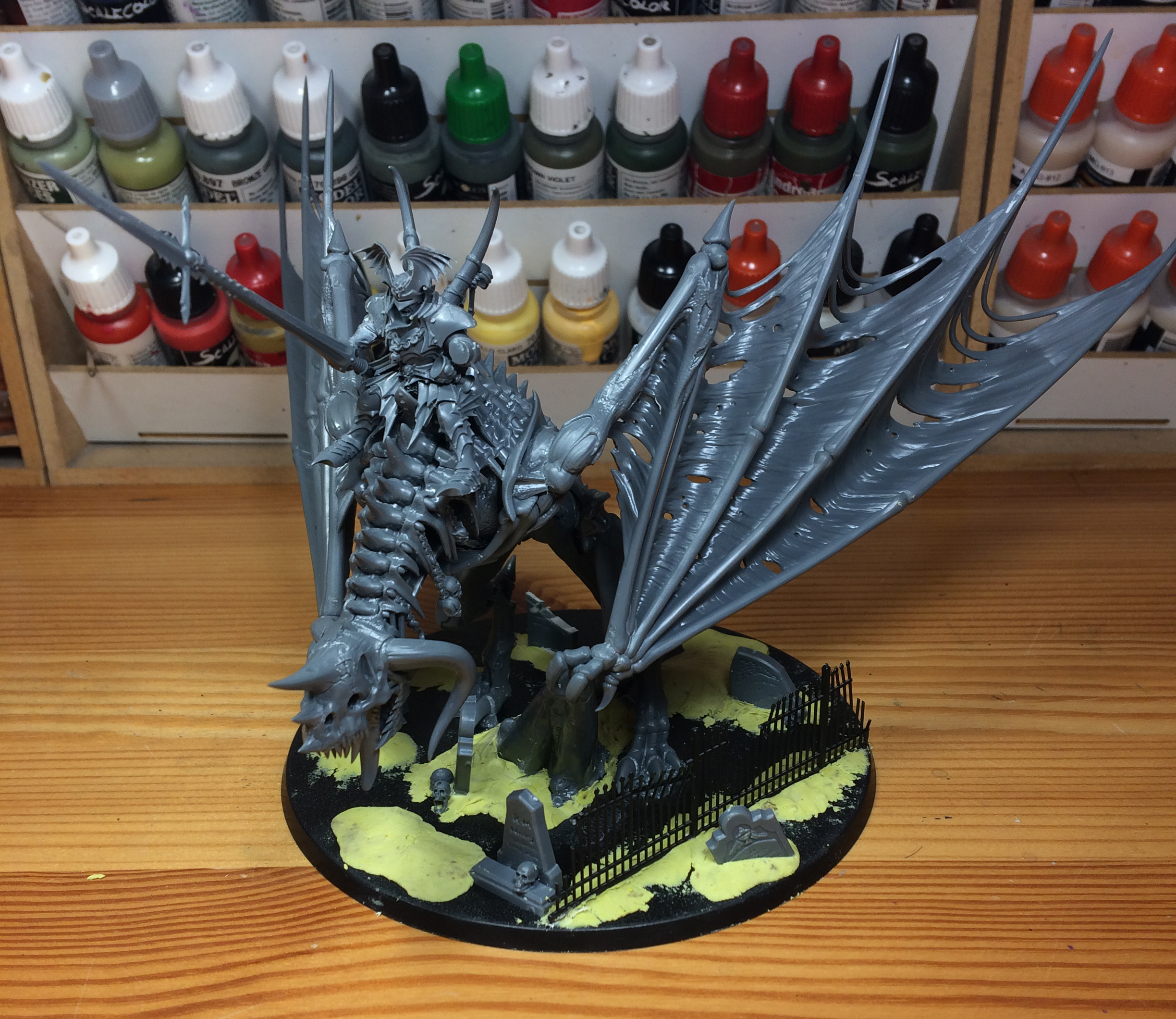 Age of Sigmar Zombie Dragon painted
